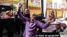Ägypten Präsidentenwahl Unterstützer von al-Sisi