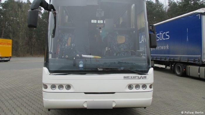 Автобус, в котором группа школьников ехала из Германии в Россию