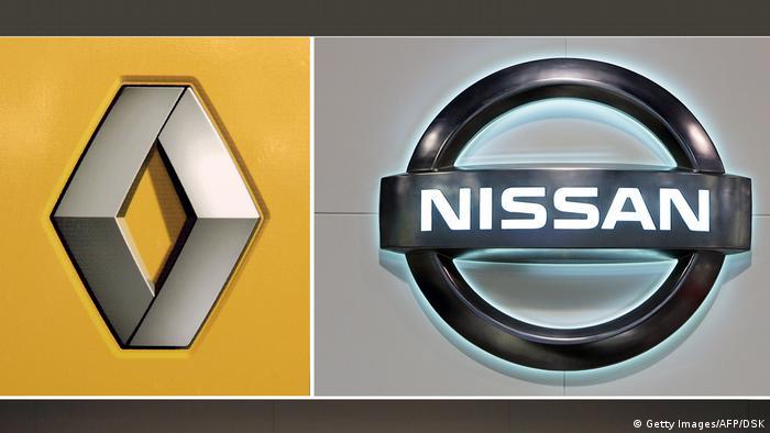 Kombo Logos Renault Nissan (Getty Images/AFP/DSK)