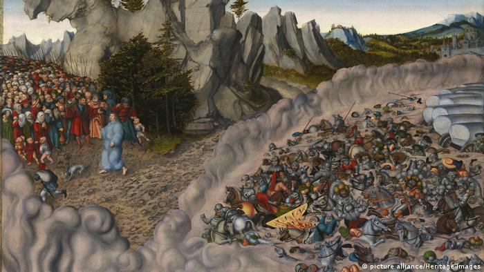 Die Überquerung des roten Meeres | Lukas Kranach der ältere 1530 (picture alliance/Heritage-Images)