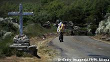 Spanien Pilgern auf dem Jakobsweg