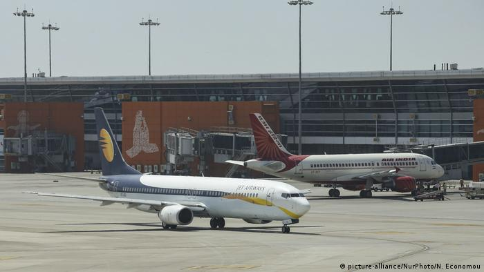Indien Indira Gandhi International Airport in Delhi (picture-alliance/NurPhoto/N. Economou)
