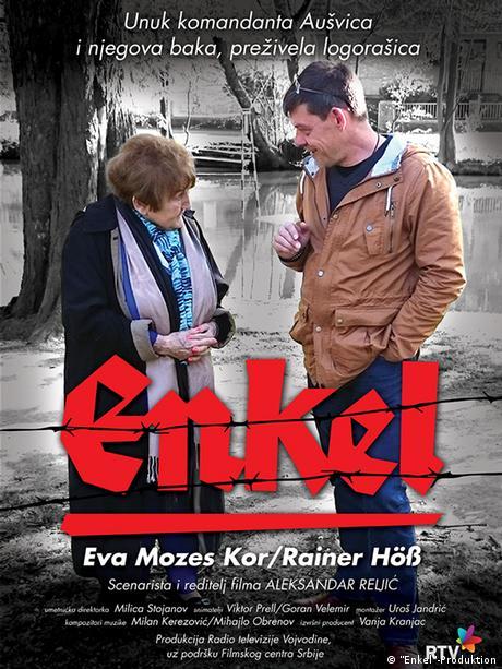 Rainer Höss and Eva Mozes Kor on a film poster (Enkel-Produktion)
