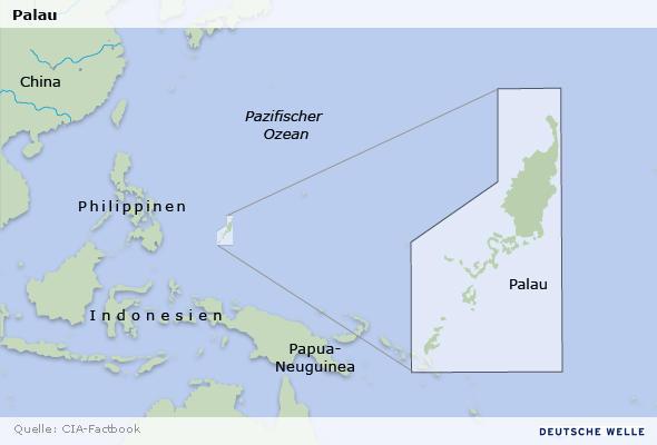 Karte Insel Palau im Pazifischen Ozean Deutsch Datum: 11.06.2009