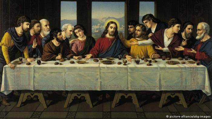 A painting of the Last Supper by Leonardo da Vinci (picture-alliance/akg-images)