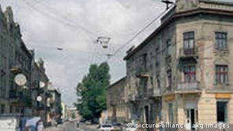 Вулиця Замарстинівська у центрі колишнього єврейського гетто Львова