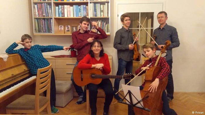 Kraotien Kristina Pavlović mit ihrer Familie