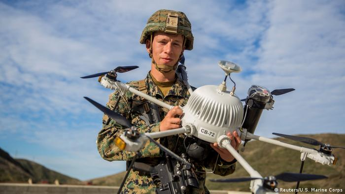 US soldier with drone