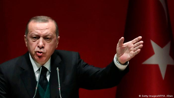 Türkei | Präsident Erdogan (Getty Images/AFP/A. Altan)
