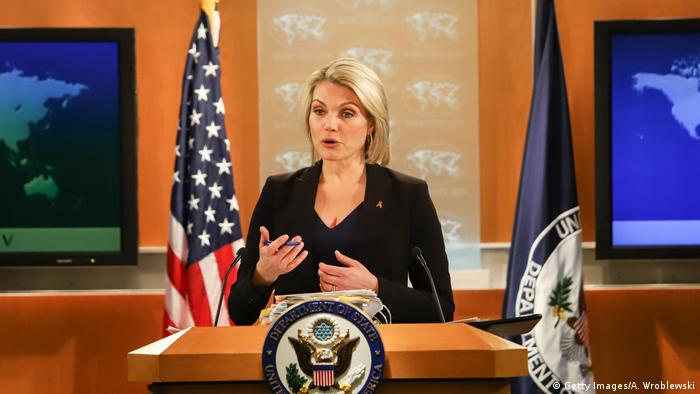 USA | Pressesprecherin Außenministerium Heather Nauert (Getty Images/A. Wroblewski)