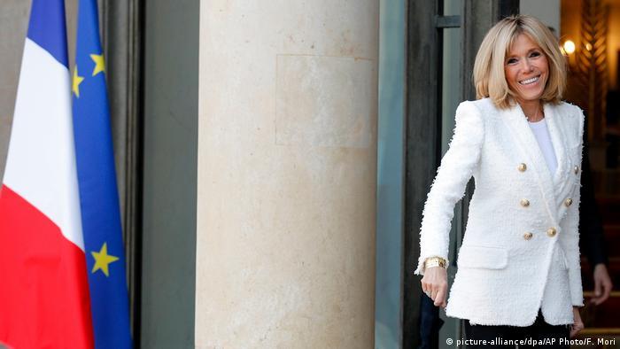Brigitte Macron at the Elysee Palace
