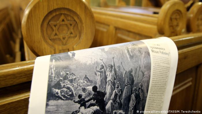 Russian newspaper commemorating passover