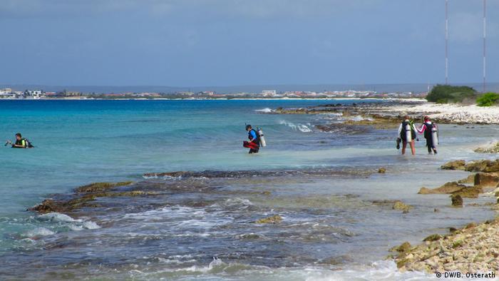 Sonnencreme und Korallen auf Bonaire, Karibik