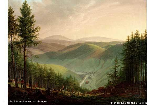 Wilhelm Saxesen: Holzfäller im Harz, 1828 (Foto: picture-alliance / akg-images)