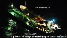 Nordkorea Umgehung der UN-Sanktionen durch Frachtschiffe