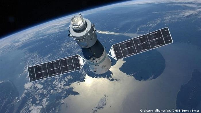 China Tiangong 1 above earth (picture-alliance/dpa/CMSE/Europa Press)