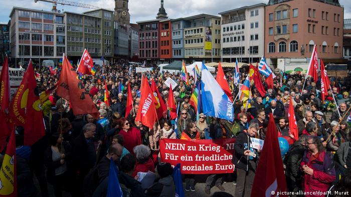 Easter march in Stuttgart