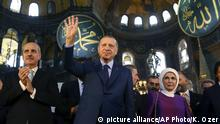 Türkei Erdogan in Hagia Sophia