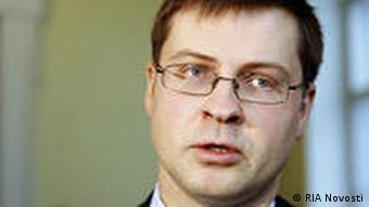 Lettlands Premier Valdis Dombrovskis (Foto: RIA Novosti)