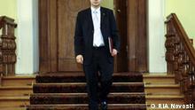 Lettland Ministerpräsident Valdis Dombrovskis in Riga