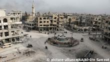 Syrian Ost-Ghouta Arbin Ruinen