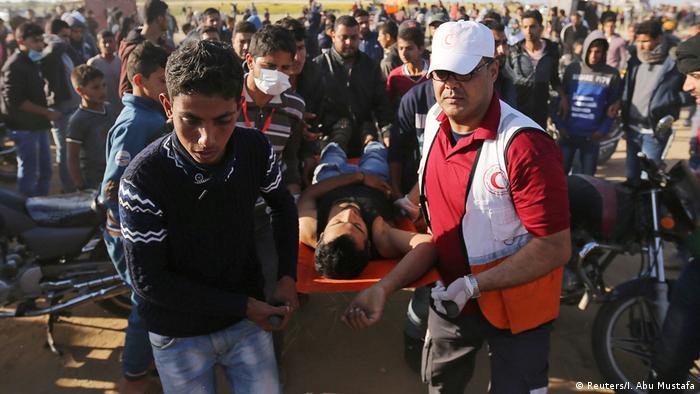 Israel Palästina   Proteste am Tag der Trauer   Gaza (Reuters/I. Abu Mustafa)