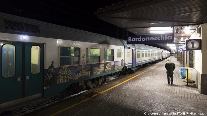 The railway station at Bardonecchia in Italy