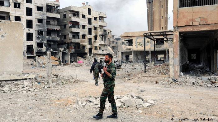 Syrien Syrische Soldaten in Ost-Ghuta (Imago/Xinhua/A. Safarjalani)