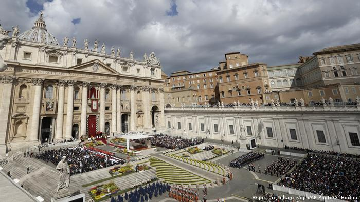 The Vatican's St. Peter's Square during Easter Mass.