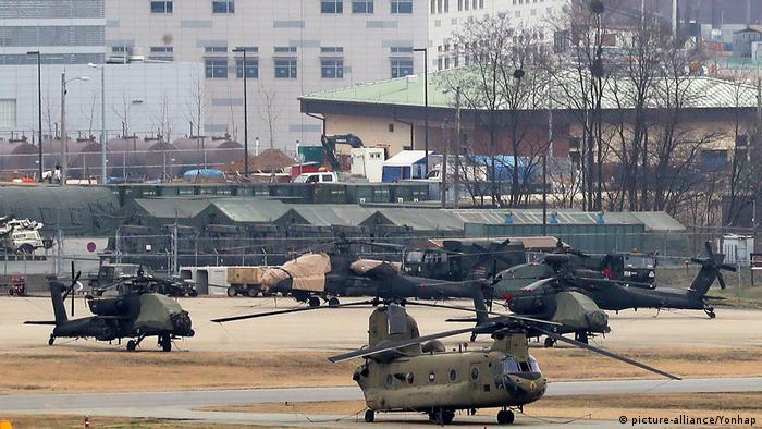 Südkorea US-Truppen beim Militärmanöver (picture-alliance/Yonhap)