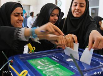 یک حوزه رایگیری در تهران