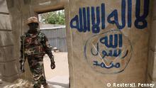 Nigeria Damasak Soldat Boko Haram Wandbild