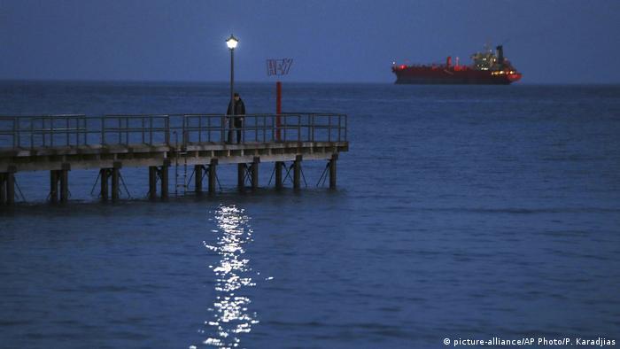 Turkish warship blockade