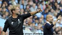 Fußball Premier League Jürgen Klopp und Pep Guardiola (picture-alliance/dpa/AP Photo/R. Vieira)