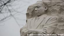 The Martin Luther King Jr. Memorial is seen on the morning of Martin Luther King Jr. Day prior to an annual wreath laying ceremony hosted by The Memorial Foundation in partnership with the Faith and Politics Institute, IMPACT, and The Asian American Lead School at the Martin Luther King, Jr. Memorial in Washington, DC on January 16, 2017. Photo by Leigh Vogel/UPI Photo via Newscom picture alliance  