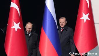 Türkei Recep Erdogan & Wladimir Putin in Ankara (Reuters/U. Bektas)