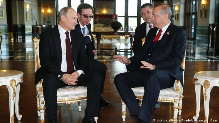 Türkei Recep Erdogan & Wladimir Putin in Ankara (picture-alliance/Anadolu Agency/K. Ozer)