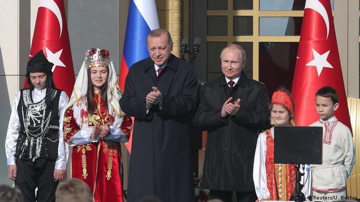 Türkei Recep Erdogan & Wladimir Putin in Ankara |  Grundsteinlegung-Zeremonie Akkuyu AKW (Reuters / U. Bektas)