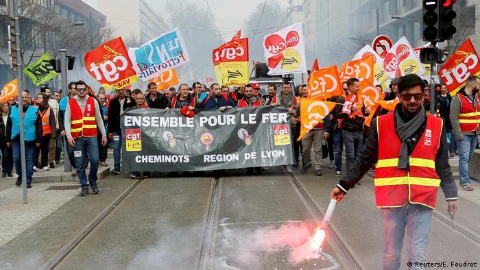 Eisenbahnerdemonstration in Lyon (03.04.2018)