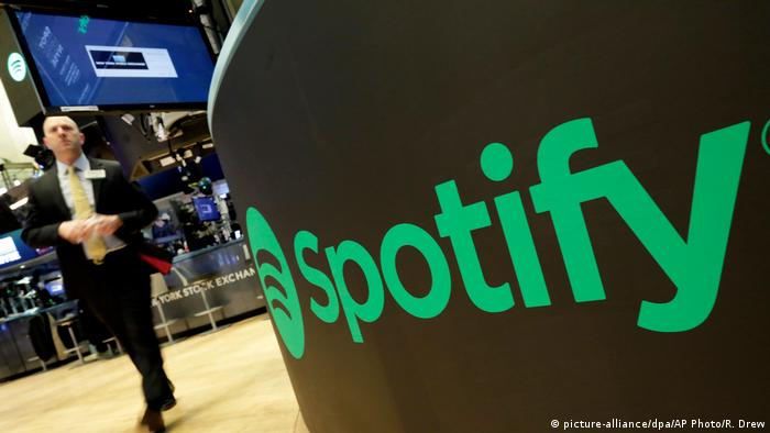 USA Spotify Börsengang in New York (picture-alliance/dpa/AP Photo/R. Drew)