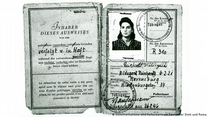 Document of concentration camp persecution (Dokumentations- und Kulturzentrum Deutscher Sinti und Roma)