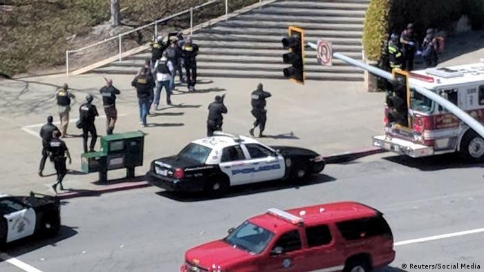 USA - Polizei-Einsatz wegen Schüssen bei YouTube-Zentrale in den USA (Reuters/Social Media)