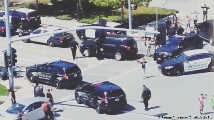 USA - Polizei-Einsatz wegen Schüssen bei der YouTube-Zentrale (Reuters/Instagram/Dirtdavisthe3rd)