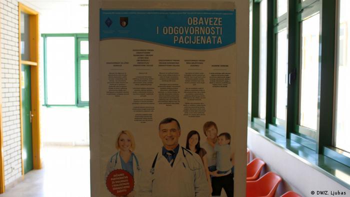 Bosnien Gewalt gegen Mediziner Infotafel