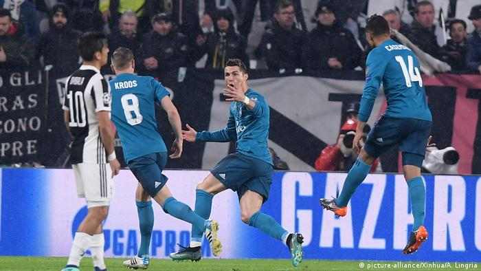 Champions League Juventus vs Real Madrid Ronaldo (picture-alliance/Xinhua/A. Lingria)