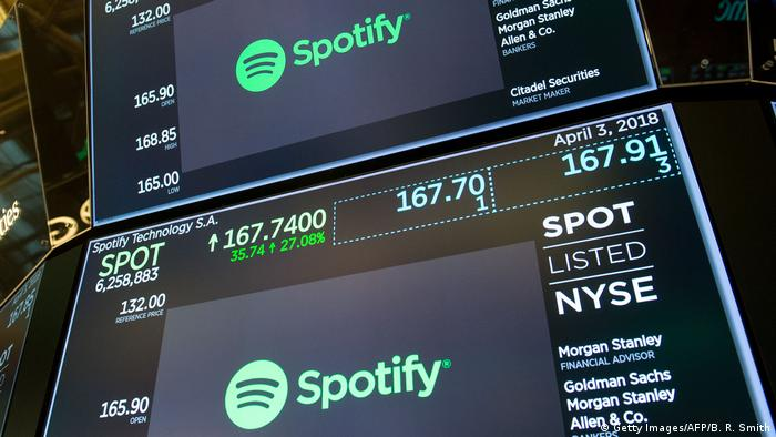 New York Börse Spotify IPO (Getty Images/AFP/B. R. Smith)