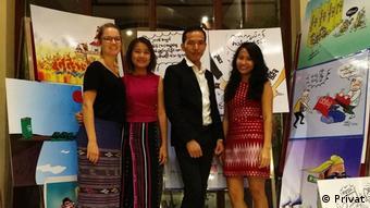 Nadja Grzesik (links) bei ihrem kulturweit-Einsatz in Myanmar.