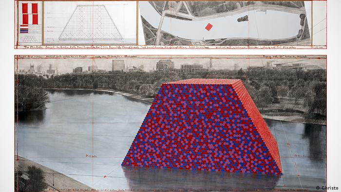 Christo The Mastaba Skizze London Hyde Park