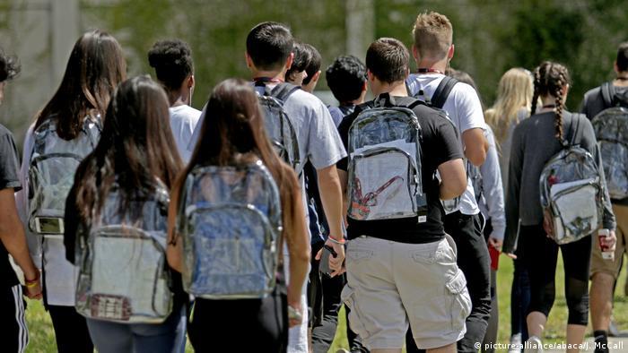 Florida Durchsichtige Rucksäcke Anti Amoklauf maßnahme