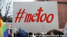#metoo Protest Schriftzug